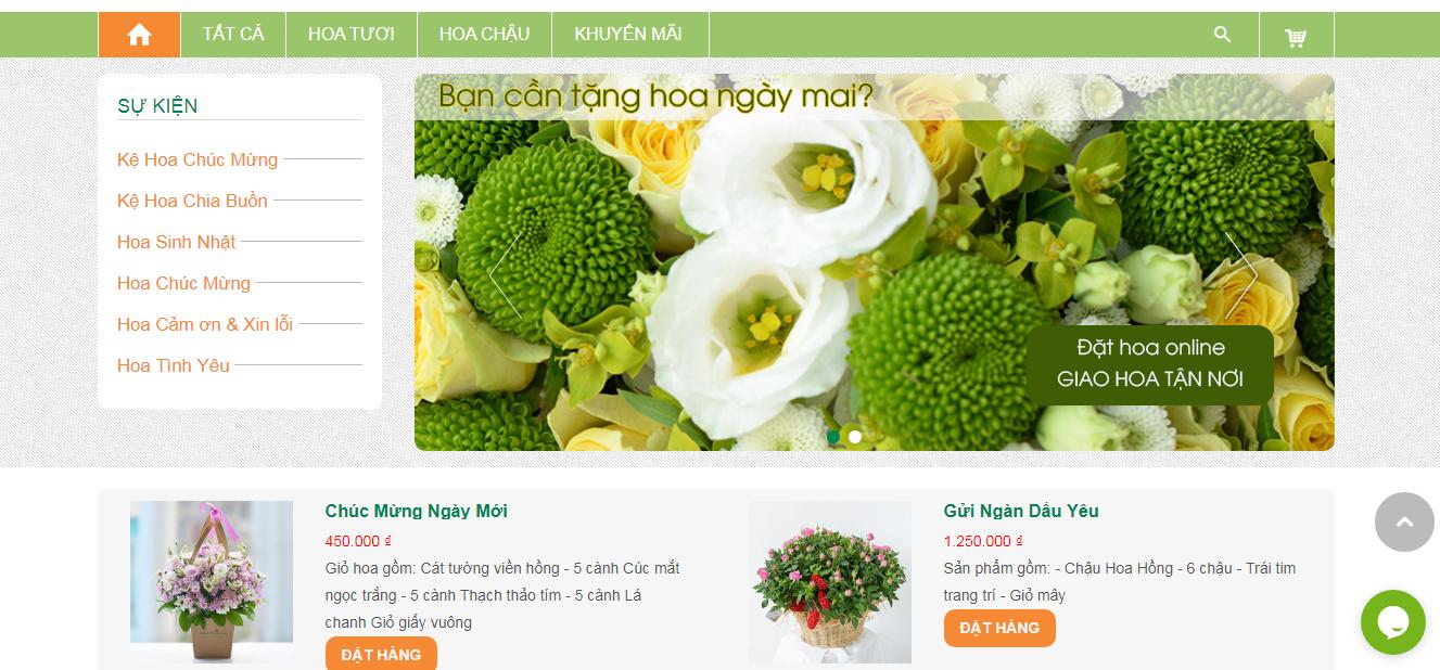 Thiết kế website shop hoa chuyên nghiệp