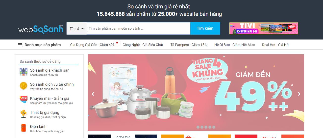 Thiết kế website tiếp thị liên kết So sánh giá