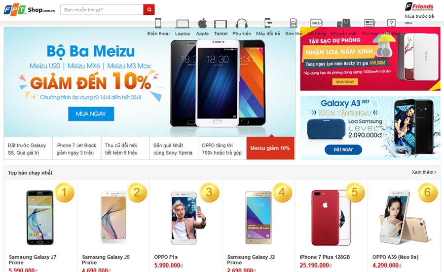 Thiết kế website bán hàng điện thoại online