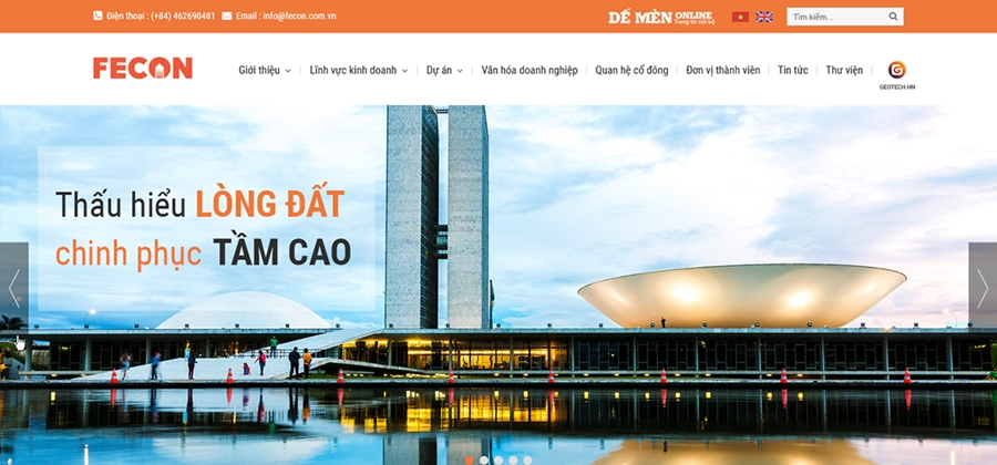 Thiết kế website xây dựng uy tín