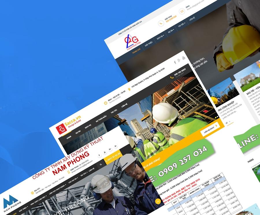 Thiết kế website công ty xây dựng tại Hà Nội
