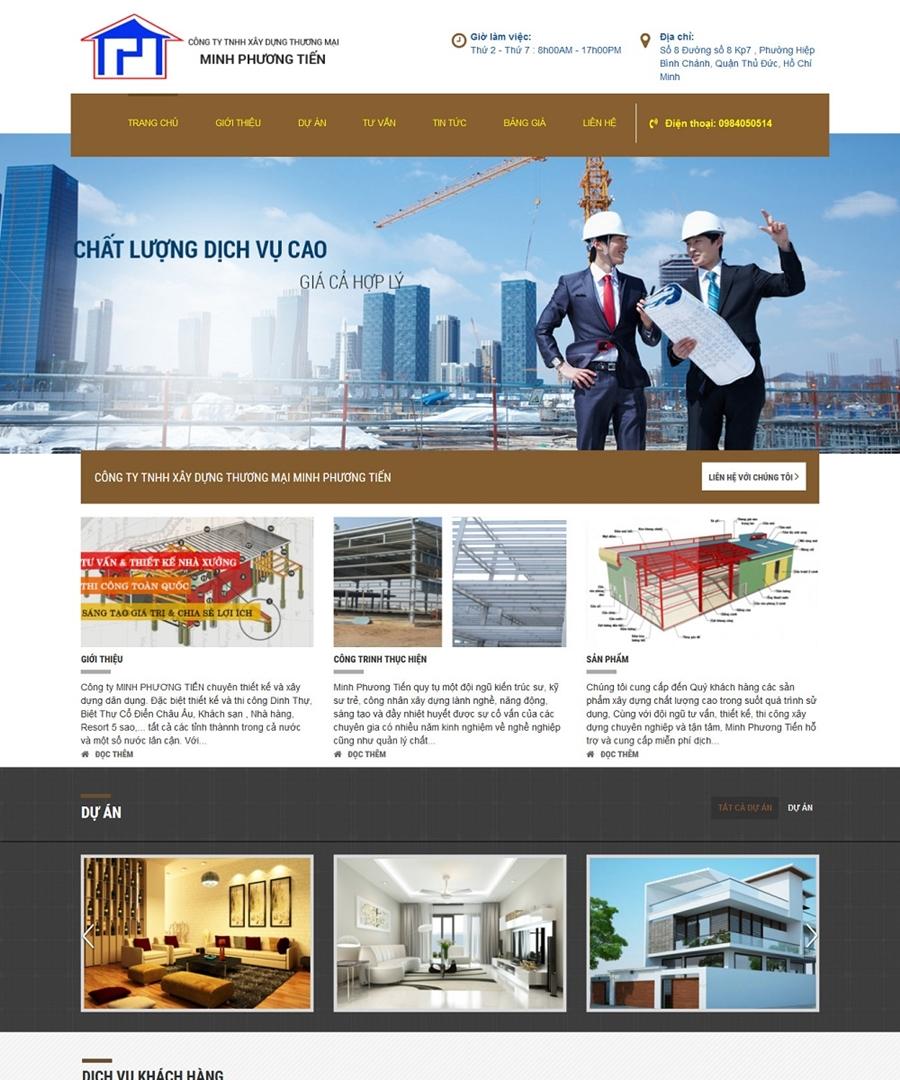 Thiết kế website công ty xây dựng hiệu quả