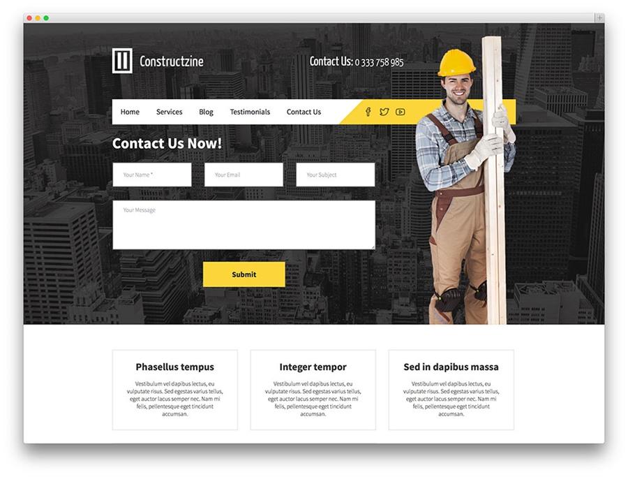 Thiết kế website công ty xây dựng giá rẻ
