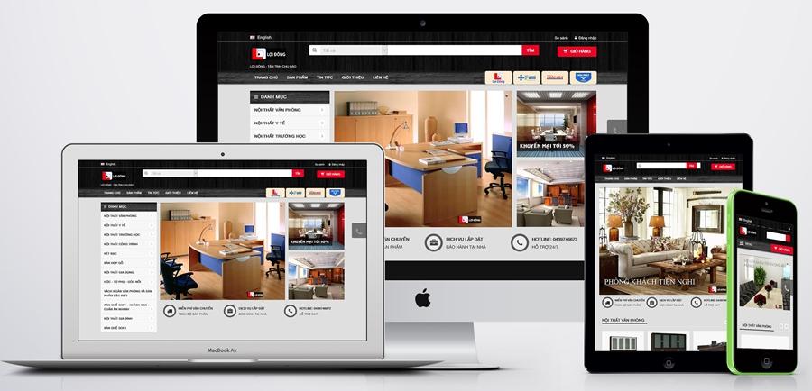 Thiết ké website bán hàng chuyên nghiệp hiệu quả
