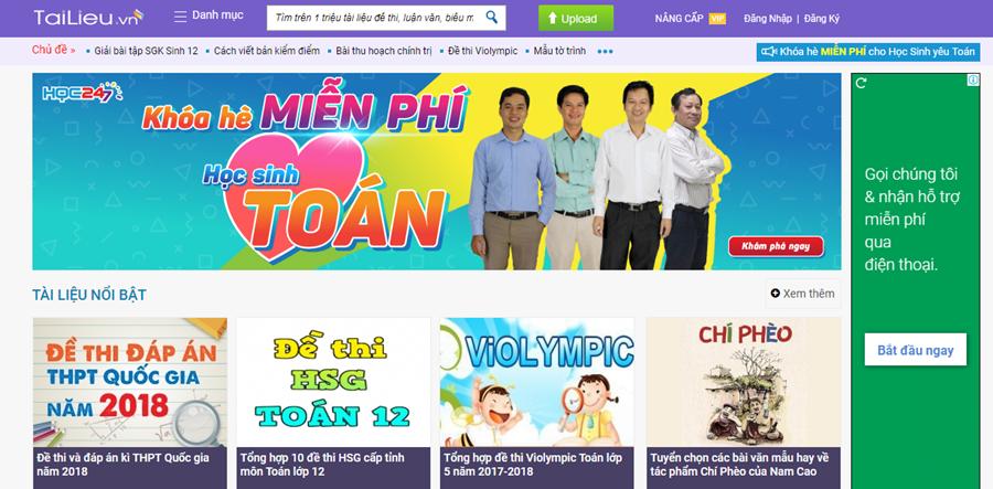 Thiết kế website bán tài liệu chia sẻ tài liệu online