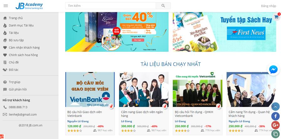 Thiết kế website bán tài liệu chia sẻ tài liệu hiệu quả